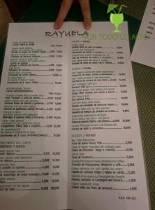 La carta  taberna Rayuela