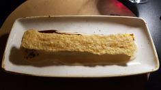 Canelón d ela abuela con crujiente de parmesano